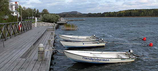 Brygga vid Hägernäs Strand